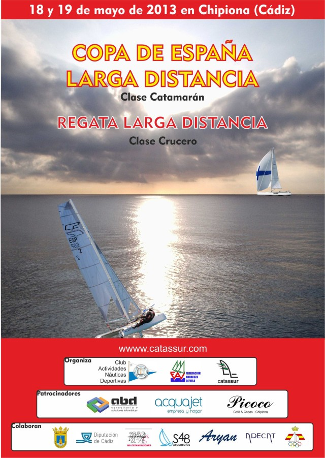 Cartel Copa de España Larga Distancia Catamarán