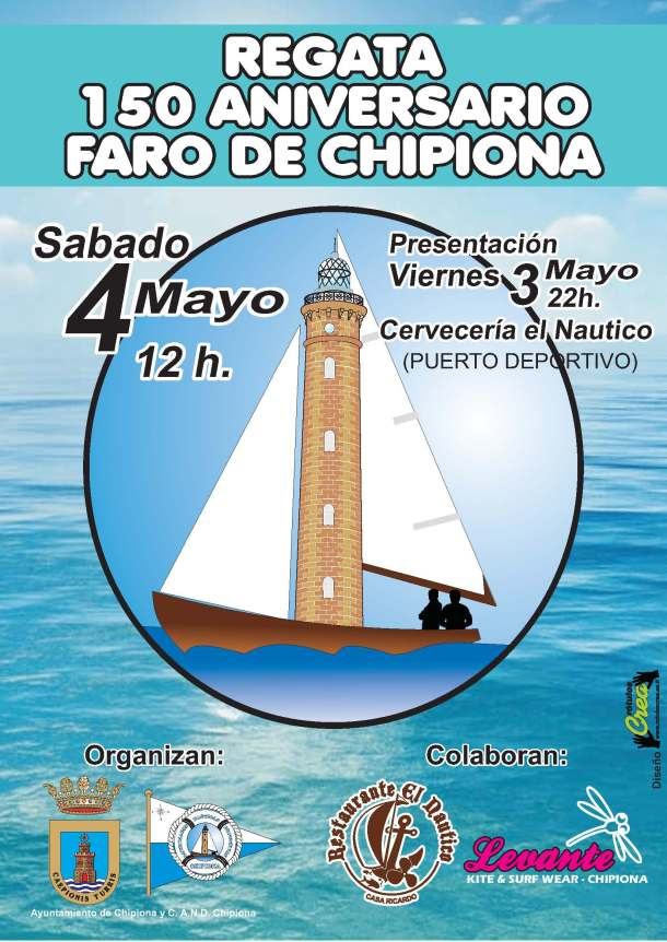 Cartel regata 150 faro de chipiona