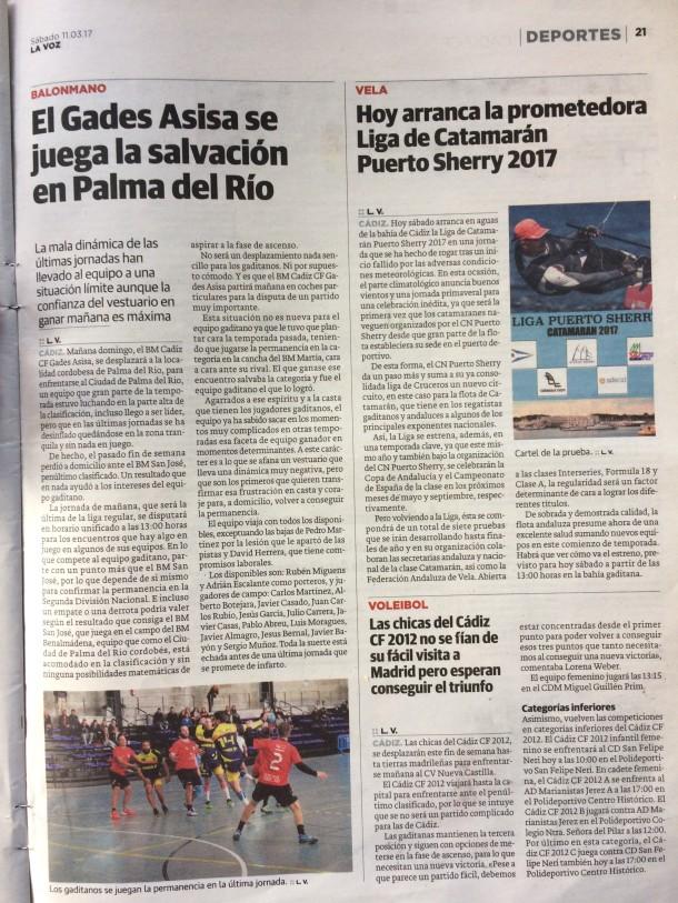 2017 Liga Invierno Puerto Sherry 2017