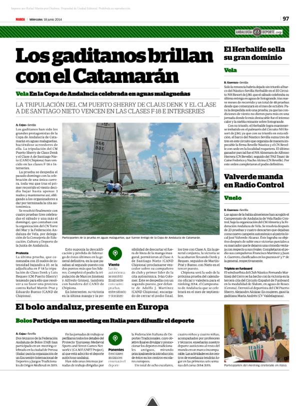Periodico copa andaluia 2014