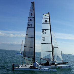 Eolo, gran ausente en la primera prueba de la II Liga de Catamarán PuertoSherry