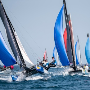 La bahía de Roses demuestra con el F18 World Championship ser un gran campo deRegatas
