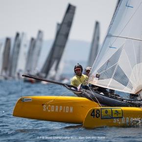 Iván Colomer y José Luis Marmolejo, CNPSherry, subcampeones en el grupo plata en el mundial de CatamaránF18