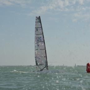Antonio Limón, en su clase A clásico, se anota la victoria en la 7ª Prueba de la liga de Catamarán PuertoSherry