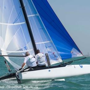 La tripulación Martín-Prat/Patrón vencedores de la IV Liga de Catamarán Puerto Sherry2020